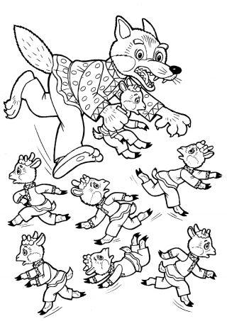 Раскраска для детей Любимые сказки часть 2