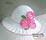 Вязание цветка крючком для шляпы
