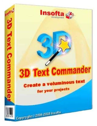 Insofta 3D Text Commander 5.1.0 + Portable + RePack & Portable byTryRooM