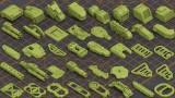 ArtStation - Mega Pack KITBASH 320 DETAILS (FBX, MAX, OBJ)
