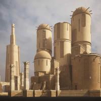 KitBash3D - Ancient Temples (MAX, MA, OBJ, FBX, BLEND)