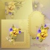 Renderosity - Moonbeam's Yellow Roses & Violets